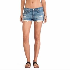 Rag &Bone Mila Denim Cutoff Shorts in Moss Size 24